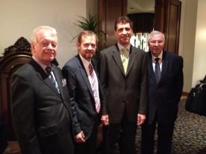 De gauche à droite : Denis F. Gauthier, Thierry Bériault, Louis Marquis, Claude Métras